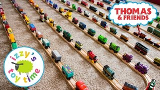 Thomas and Friends   Izzy's Thomas Train Collection! With KidKraft Brio and Imaginarium   Toy Trains