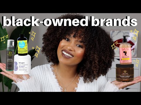 my favorite BLACK OWNED natural hair brands + products