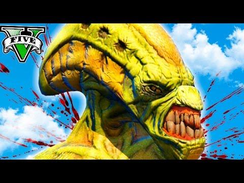 GTA V APOCALYPSE INVASION ALIEN !! ALIEN ATACK !! GTA 5 PC MODS Makiman