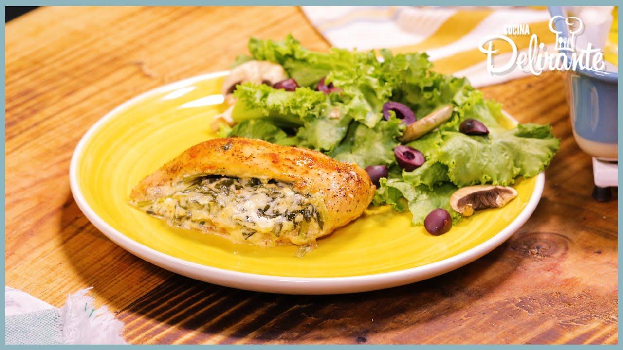 Cremosas pechugas rellenas de queso crema | Cocina Delirante