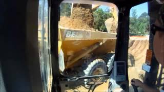 Sany 235 Excavator Loading Dump Truck