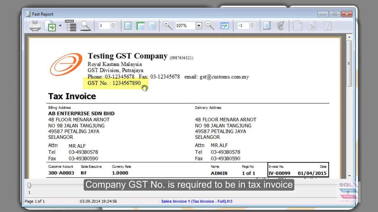 05 sql acc invoice tax - youtube, Invoice examples