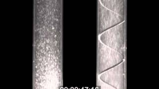 Laminar flow vs turbulent flow (smooth vs corrugated tubes) / Flujo laminar vs flujo turbulento