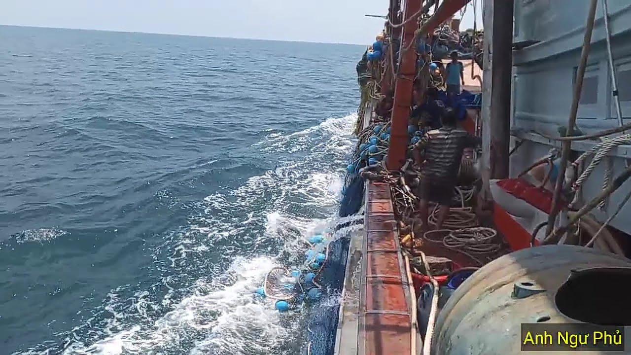 Ngư Dân Ghe Cào Kiên Giang Bủa Giã Cào Đầu Tiên Của Chuyến Biển Mới | Anh Ngư Phủ