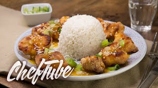 How To Make Ovencooked Orange Chicken With Sesame Seeds - Recipe In Description