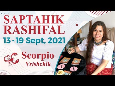 Scorpio (Vrishchik) Saptahik Rashifal   13 -19  Sep 2021   वृश्चिक राशि साप्ताहिक राशिफल   Tarot