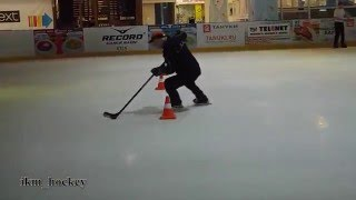 Хоккей обводка, финты | hockey dribbling stickhandling tricks hockey moves