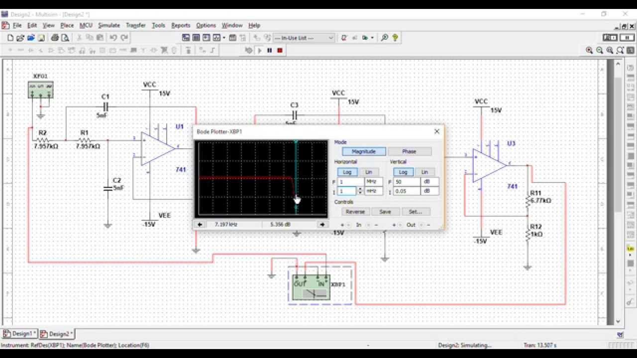 Multisim Simulation Of Low Pass Filter Youtube How To Build Notch Circuit Diagram