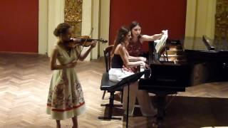 Frank Sonate für Violine und Klavier in A Dur / 1 Maria Katugina Viktoria Vasilchenko
