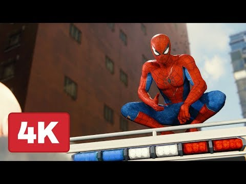 Spider-Man PS4: Swinging Across the Entire Map (Captured in 4K)