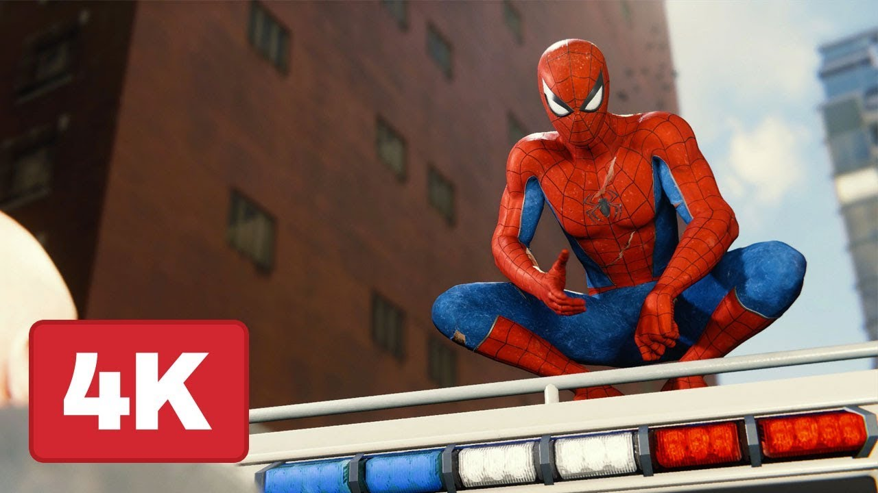 Spider Man Ps4 Swinging Across The Entire Map Captured In 4k