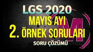 LGS Mayıs Ayı Matematik 2.Örnek Sorular 2020