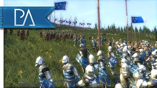 MASSIVE MEDIEVAL BATTLE - Medieval 2 Total War Gameplay