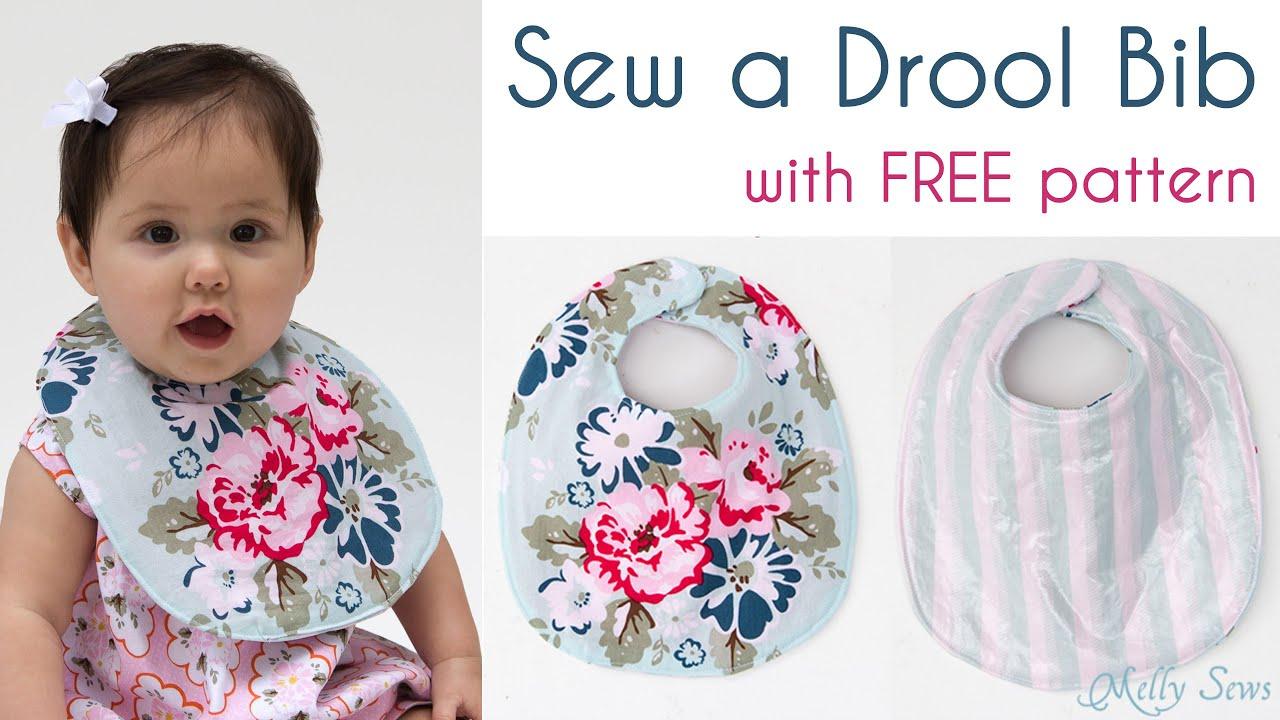 Sew a Baby Bib - Make a drool bib - YouTube