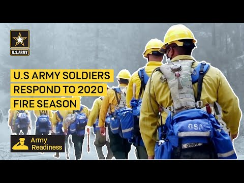 U.S Army Soldiers Respond to 2020 Fire Season