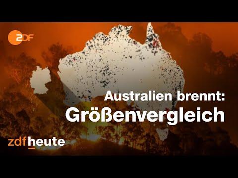 Buschbrände In Australien: Feuer Im Größenvergleich Mit Deutschland
