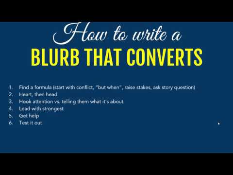 How to write a book description or blurb that converts browsers to buyers
