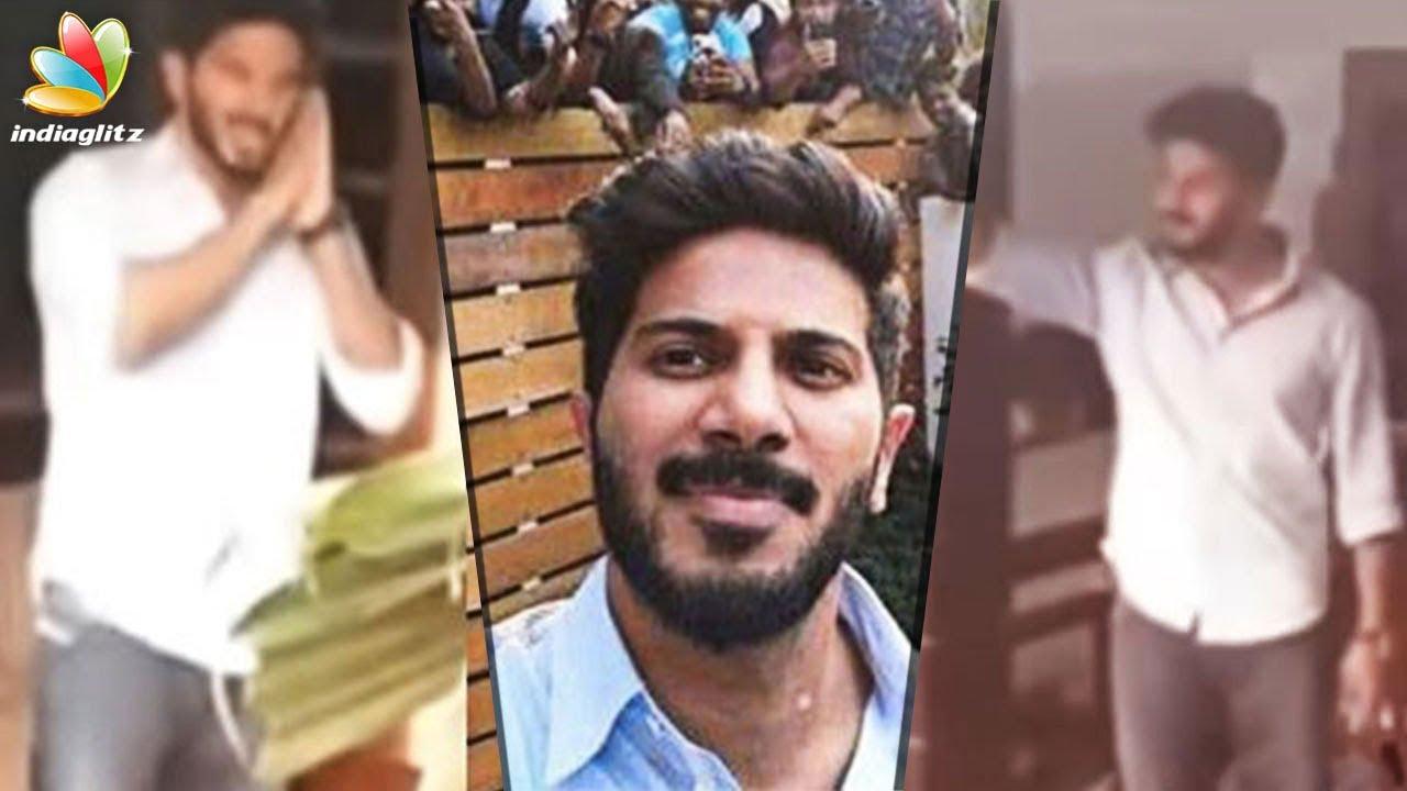കുഞ്ഞുവാവ ഉറങ്ങുവാ, ഒച്ചവയ്ക്കരുതേ| Dulquer Salmaan with Fans | Vairal video