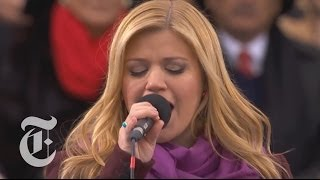 Obama Inauguration 2013 | Kelly Clarkson Sings 'My Country 'Tis of Thee' | The New York Times