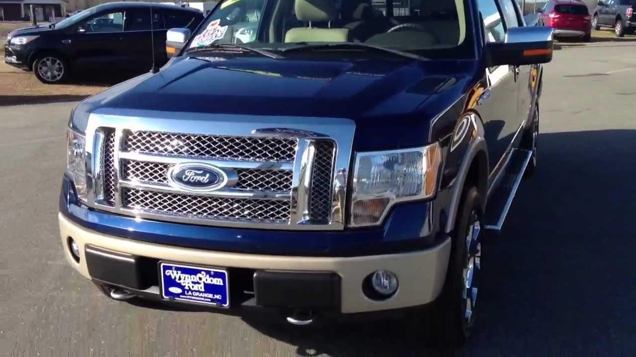 2010 ford f 150 lariat 4x4 supercrew dark blue pearl