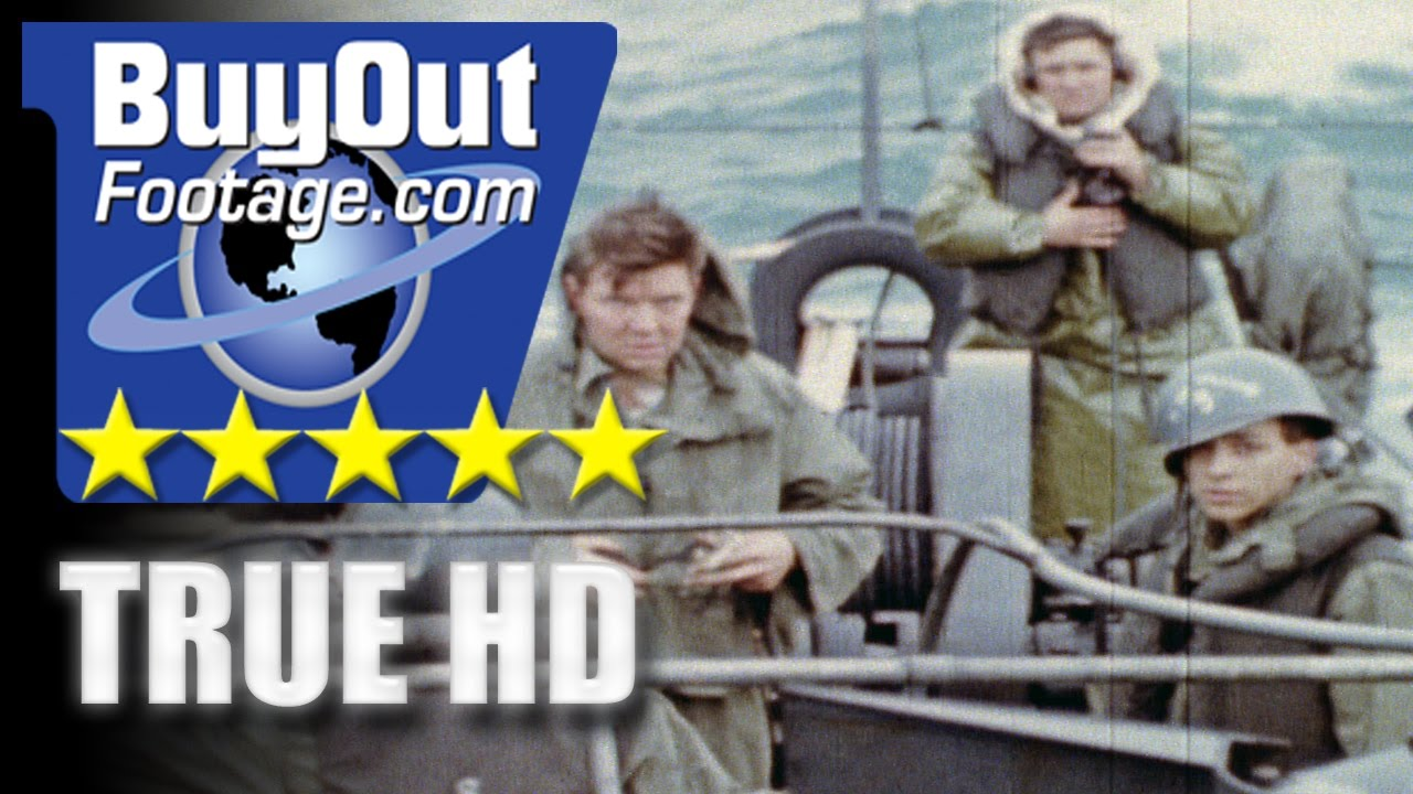 HD Historic Stock Footage WWII Color NORMANDY OMAHA BEACH