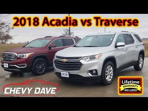 2018 Chevy Traverse and GMC Acadia Side By Side Comparison✅❓
