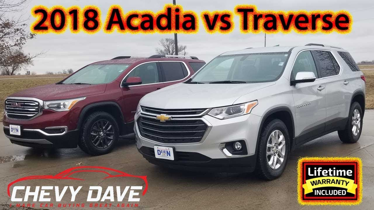 2018 Chevy Traverse and GMC Acadia Side By Side Comparison ...