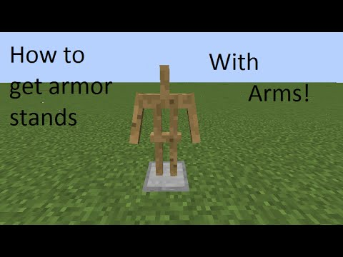 How to get an Armor Stand with Arms YouTube