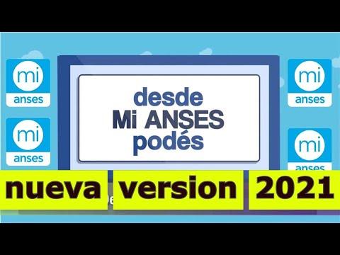 """nueva version  MI ANSES  """" Actualizaron la Pagina 2021 """""""