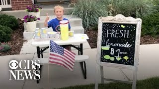 6-year-old boy honors late dad with lemonade stand