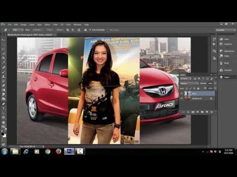 Belajar Photoshop Cara memasukan gambar ke objek Lain