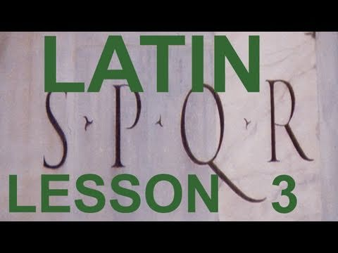 5 Do you want to learn Classical Latin?  (in English) (The Verb To Be)