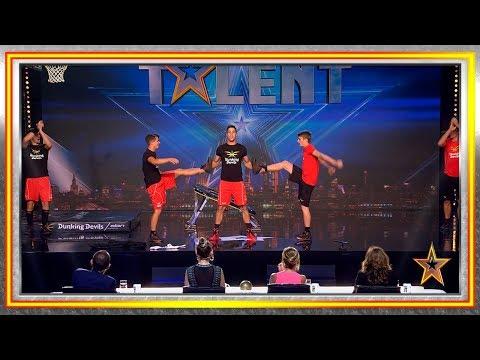 Estos eslovenos hacen locas acrobacias jugando al baloncesto | Audiciones 2 | Got Talent España 2019