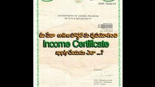 how to apply income cirtificate using meeseva online portal