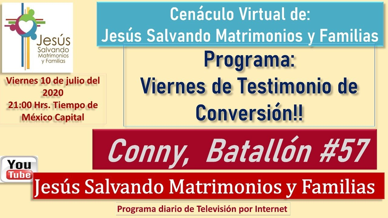 #Viernes de Testimonio de Conversión Conny Batallón 57
