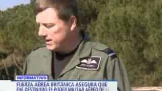 Fuerza Aérea Británica asegura que fue destruido poder militar aéreo del régimen libio