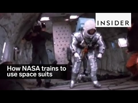 This is how NASA trained its astronauts to use space suits