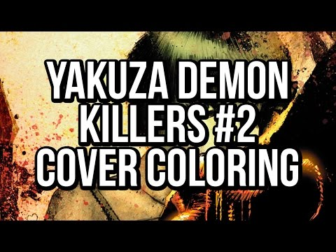 Yakuza Demon Killers #2 cover walkthrough: a Photoshop comic book coloring tutorial