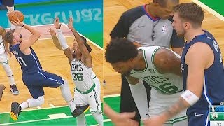 Luka Doncic Checks On Marcus Smart After Kicking His Groin & Kemba Walker Takes Over!