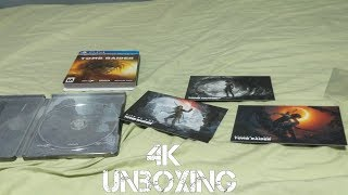 Shadow Of The Tomb Raider - Croft Steelbook Edition Unboxing (Playstation 4)  [4K]