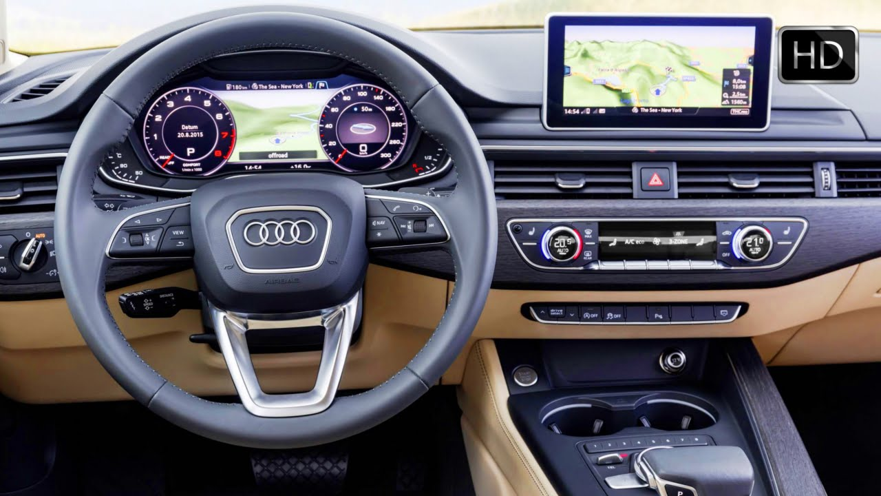 2016 Audi A4 Sedan Quattro (B9 generation) Interior Design HD - YouTube