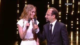 """Lily-Rose Depp et Asghar Farhadi : """"Nous déclarons ouvert le 70ème Festival de Cannes"""""""
