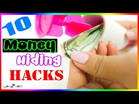 10 Money Hiding Life Hacks Every Girl Should Know in case of an emergency