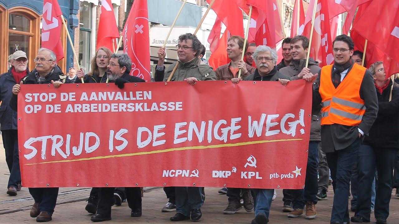 groningen demonstratie nieuwe communistische partij nederland ncpn in centrum groningen. Black Bedroom Furniture Sets. Home Design Ideas