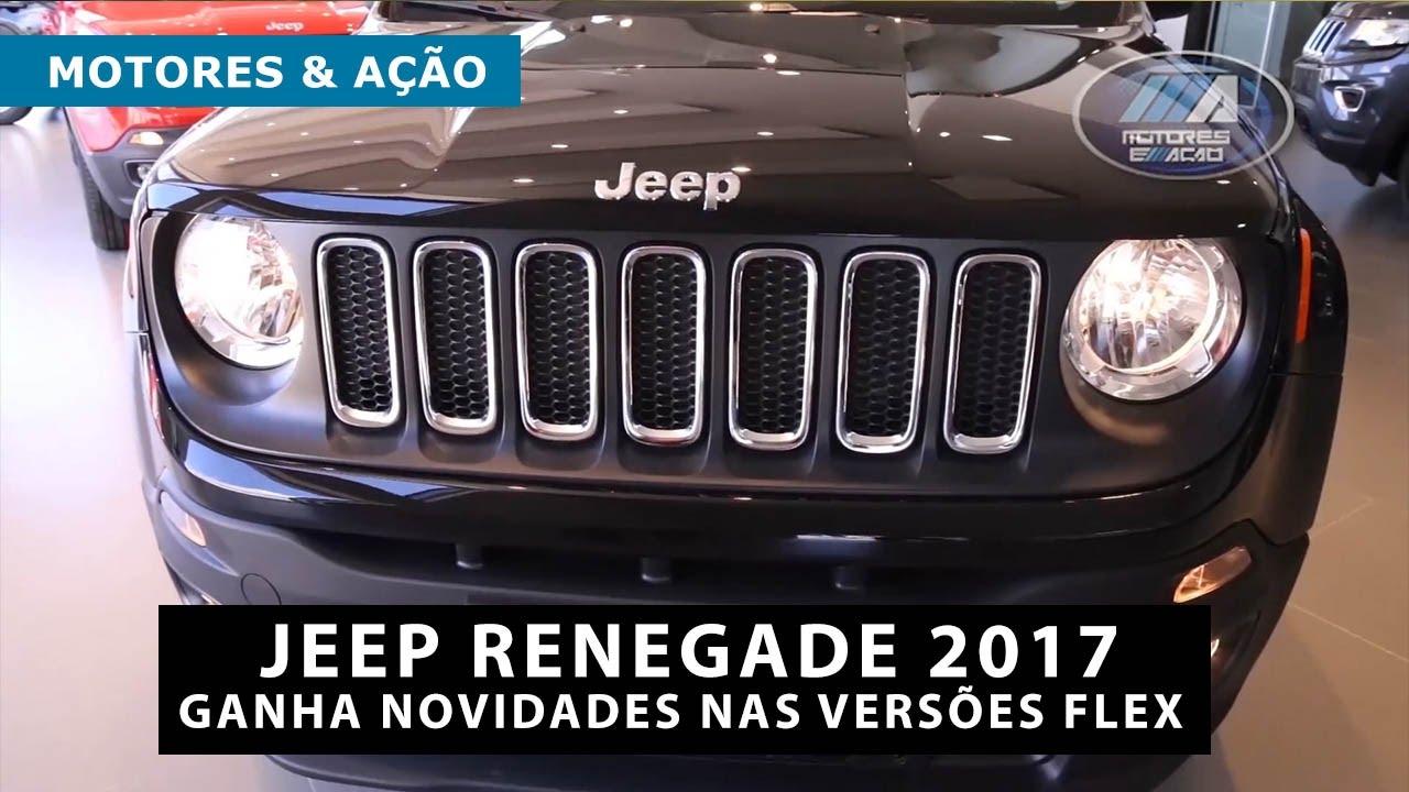 Jeep Renegade 2017 Ganha Novidades Nas Versoes Flex Motoreseacao