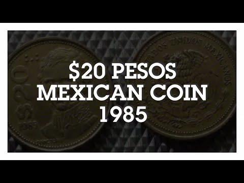 $20 Pesos Coin 1985, Mexico