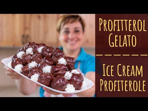 PROFITTEROL GELATO DI BENEDETTA Ricetta facile - Ice Cream Profiteroles Easy Recipe