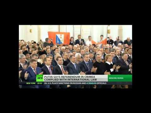 CRIMEA JOINS RUSSIA - President Putin Signs Treaty to Annex Crimea