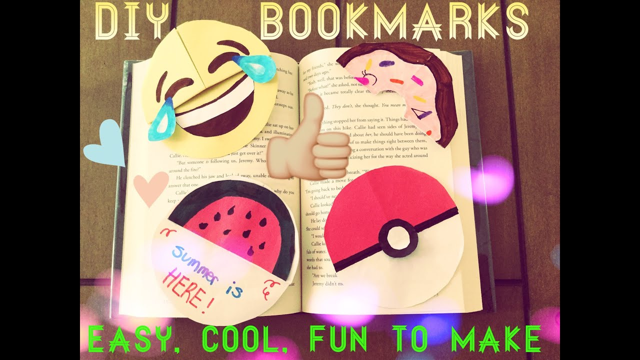 Diy circle bookmarks for kids super easy tutorial youtube for Cool ways to make bookmarks