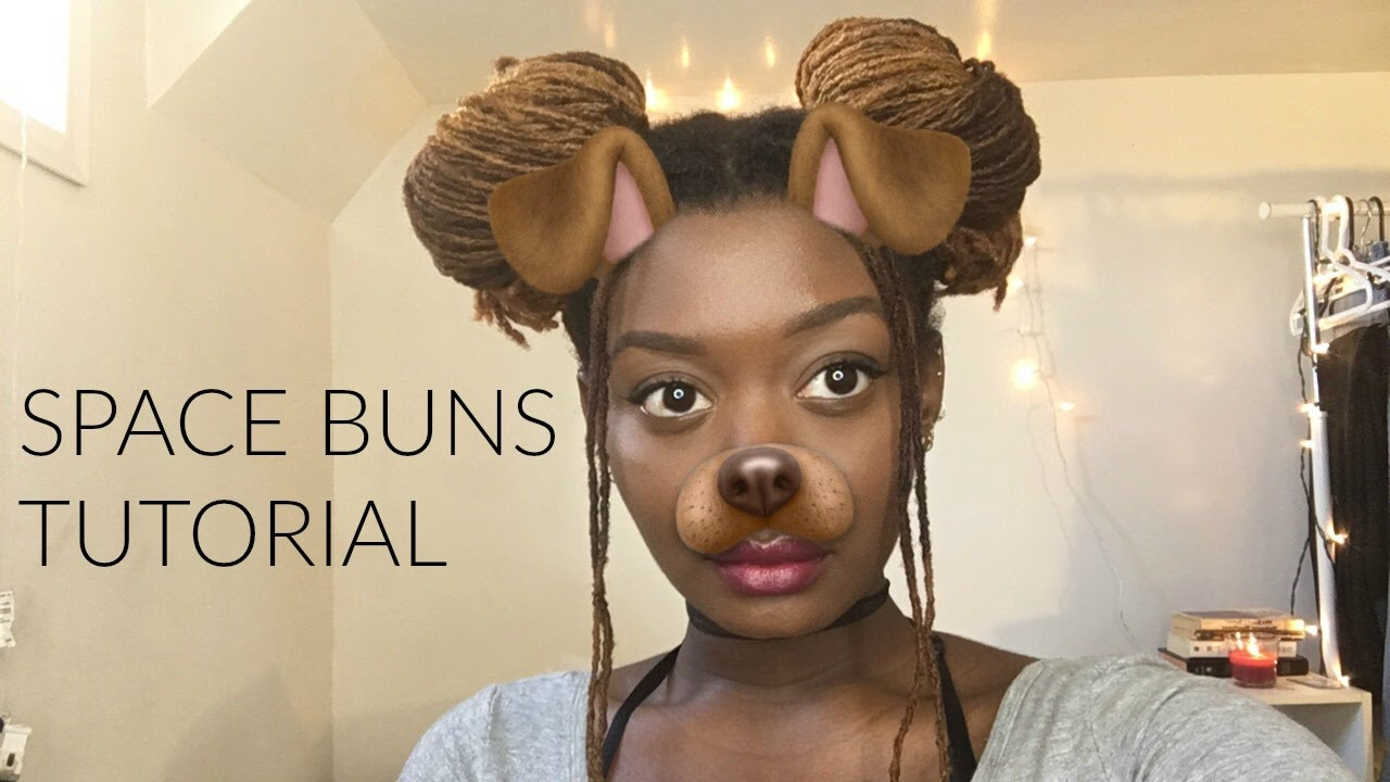 Space buns tutorial on locs youtube for Space tutorial